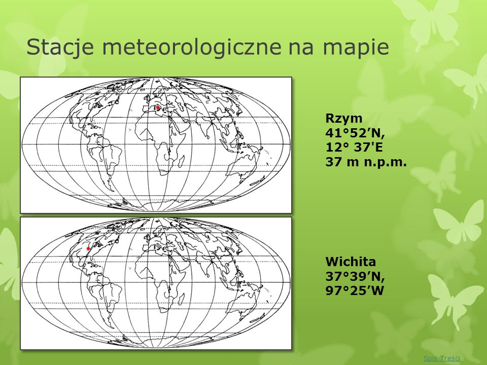 Stacje meteorologiczne na mapie