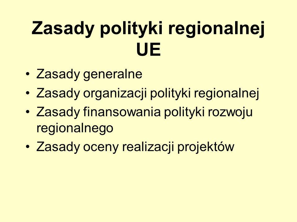 Zasady polityki regionalnej UE