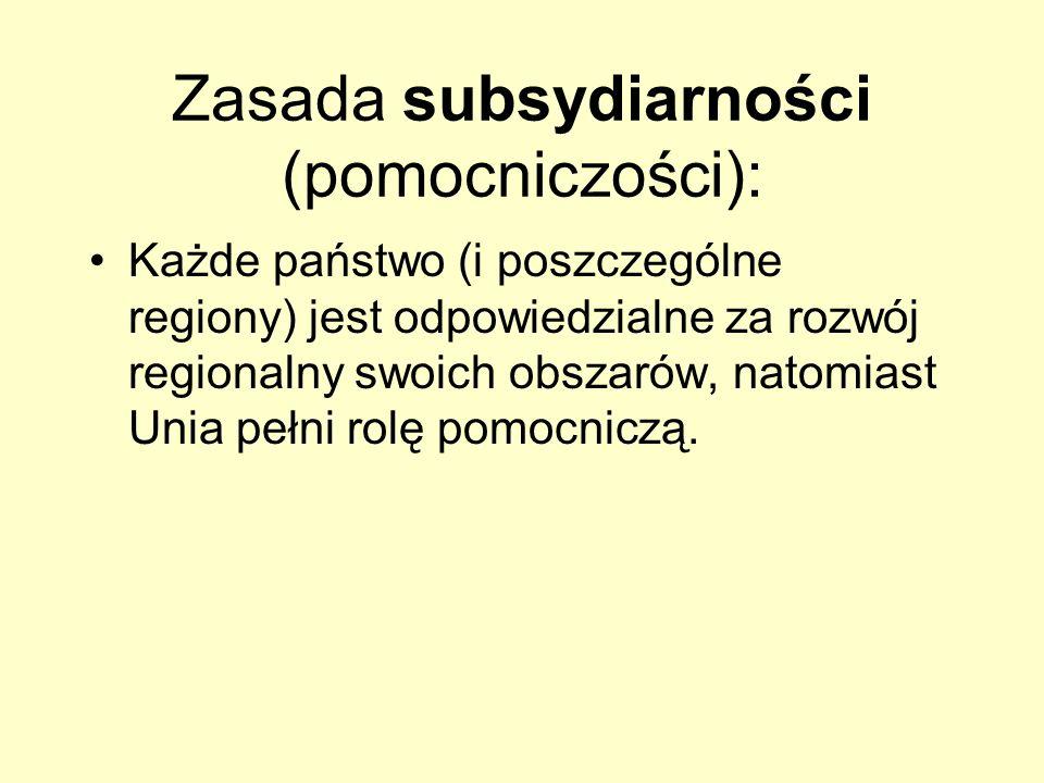 Zasada subsydiarności (pomocniczości):