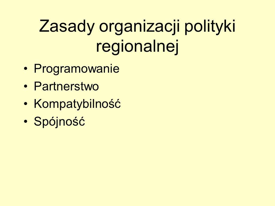 Zasady organizacji polityki regionalnej