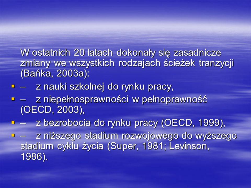 W ostatnich 20 latach dokonały się zasadnicze zmiany we wszystkich rodzajach ścieżek tranzycji (Bańka, 2003a):