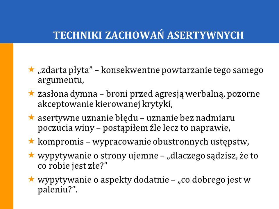 TECHNIKI ZACHOWAŃ ASERTYWNYCH