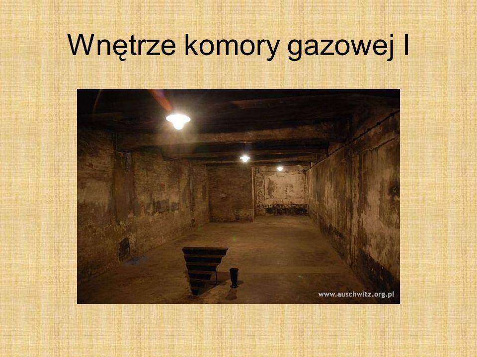 Wnętrze komory gazowej I