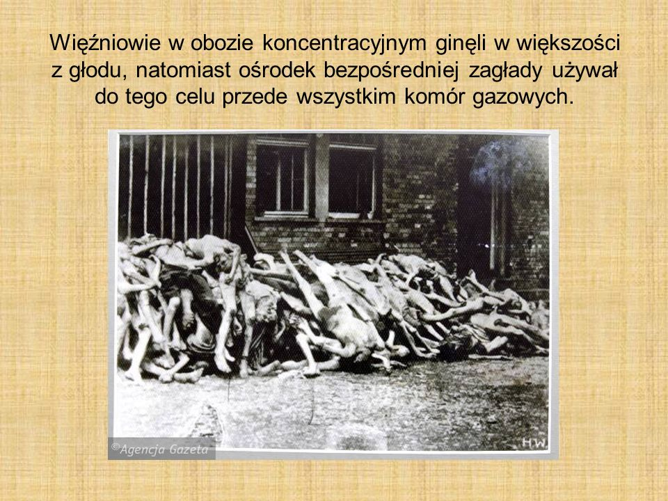 Więźniowie w obozie koncentracyjnym ginęli w większości z głodu, natomiast ośrodek bezpośredniej zagłady używał do tego celu przede wszystkim komór gazowych.