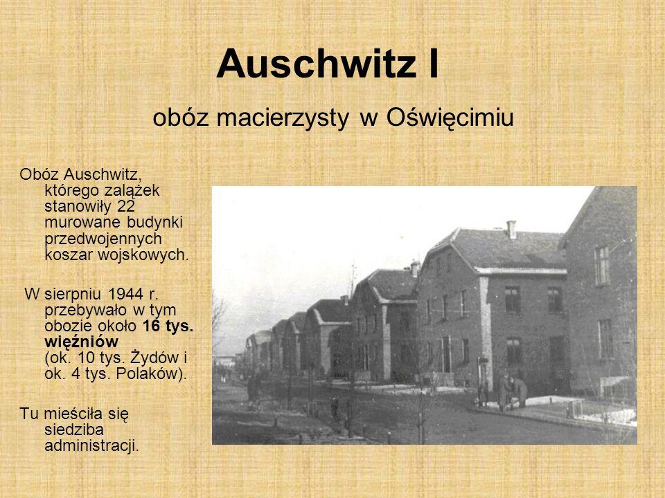 Auschwitz I obóz macierzysty w Oświęcimiu