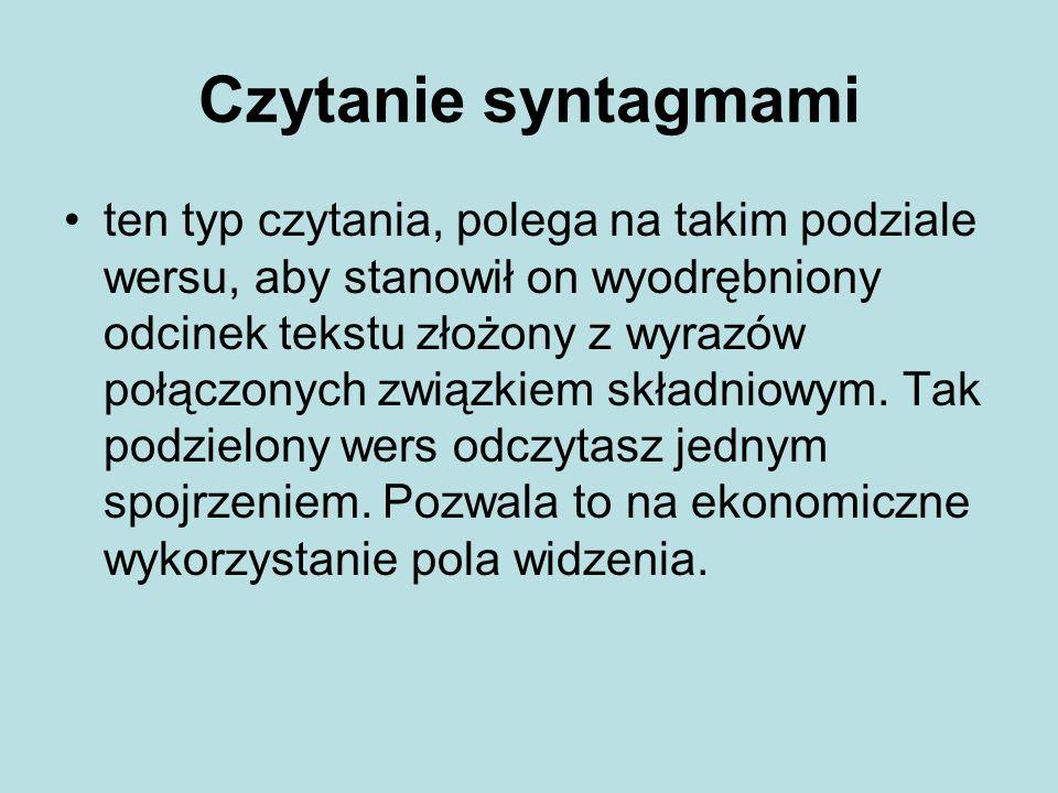 Czytanie syntagmami
