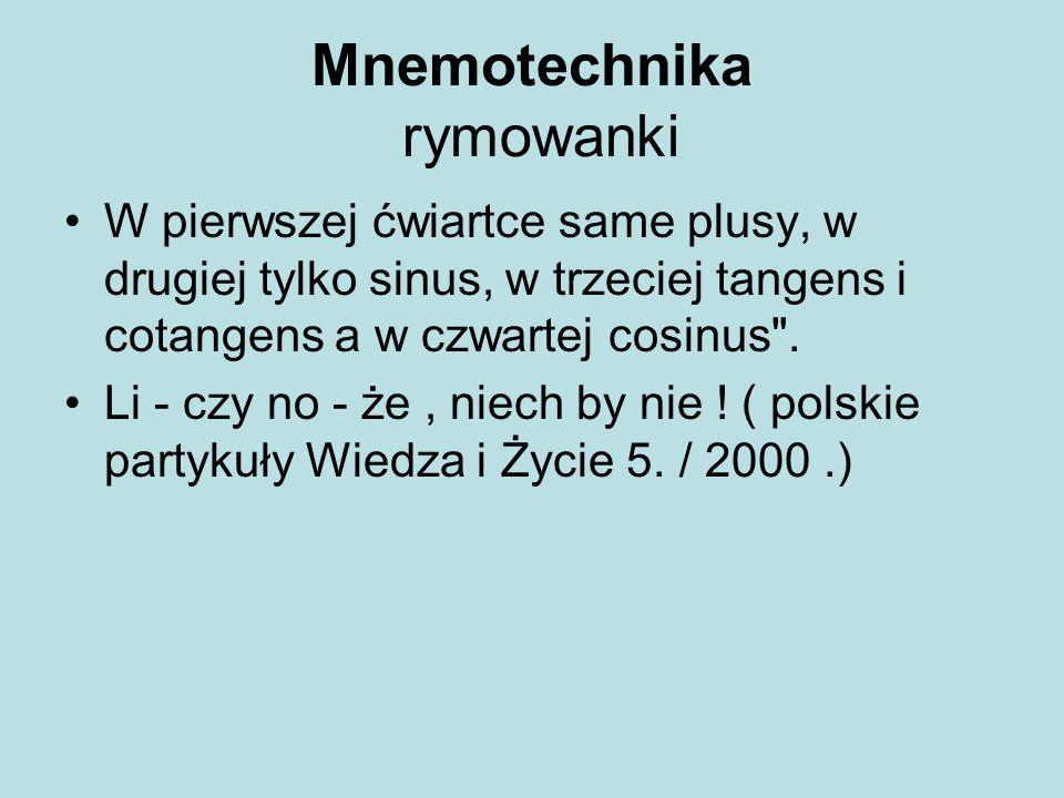 Mnemotechnika rymowanki