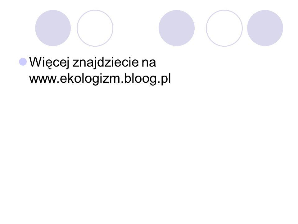 Więcej znajdziecie na www.ekologizm.bloog.pl