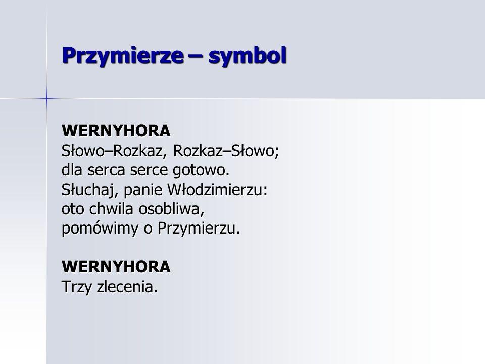Przymierze – symbol WERNYHORA Słowo–Rozkaz, Rozkaz–Słowo;