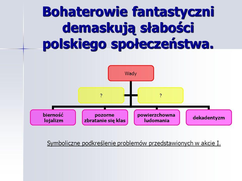 Bohaterowie fantastyczni demaskują słabości polskiego społeczeństwa.