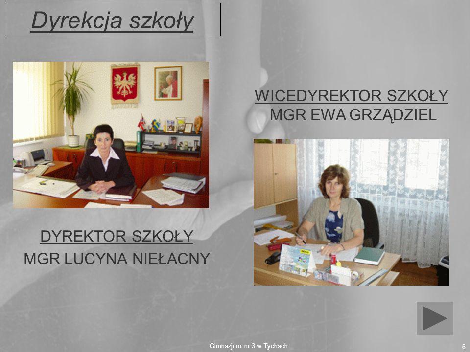 Dyrekcja szkoły WICEDYREKTOR SZKOŁY MGR EWA GRZĄDZIEL DYREKTOR SZKOŁY