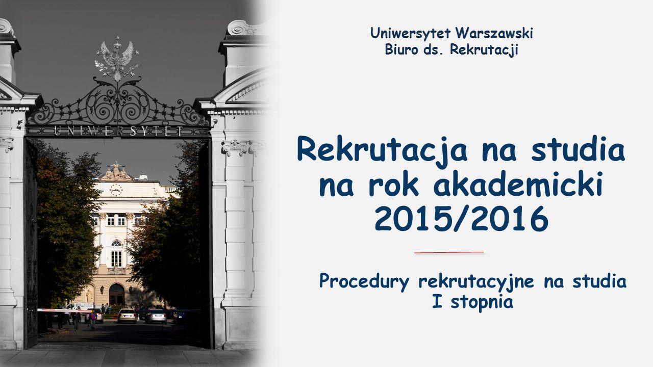 Rekrutacja na studia na rok akademicki 2015/2016