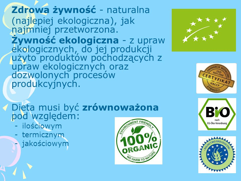 Zdrowa żywność - naturalna