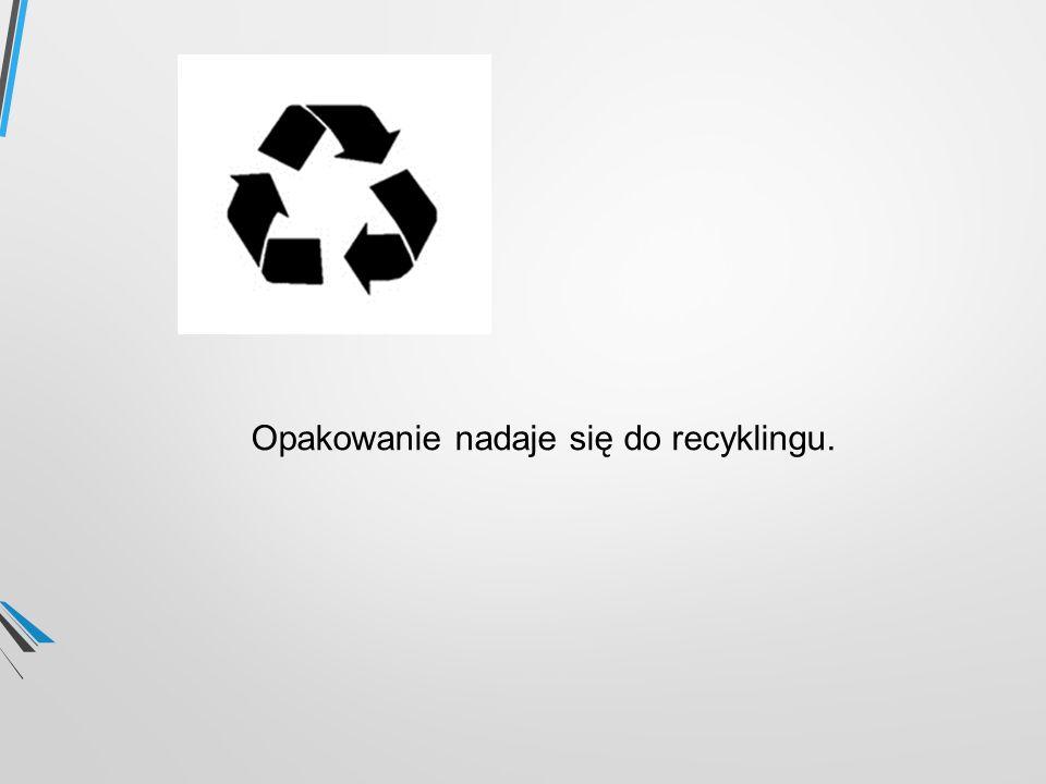 Opakowanie nadaje się do recyklingu.