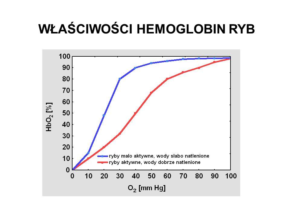 WŁAŚCIWOŚCI HEMOGLOBIN RYB