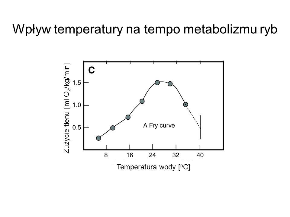 Wpływ temperatury na tempo metabolizmu ryb