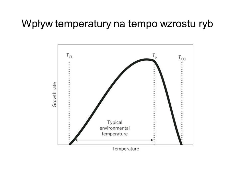 Wpływ temperatury na tempo wzrostu ryb