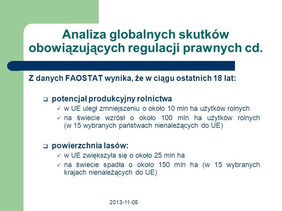 Analiza globalnych skutków obowiązujących regulacji prawnych cd.