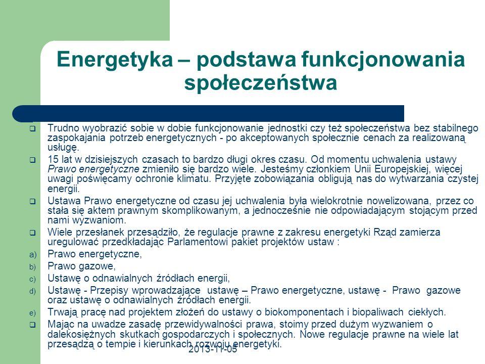 Energetyka – podstawa funkcjonowania społeczeństwa