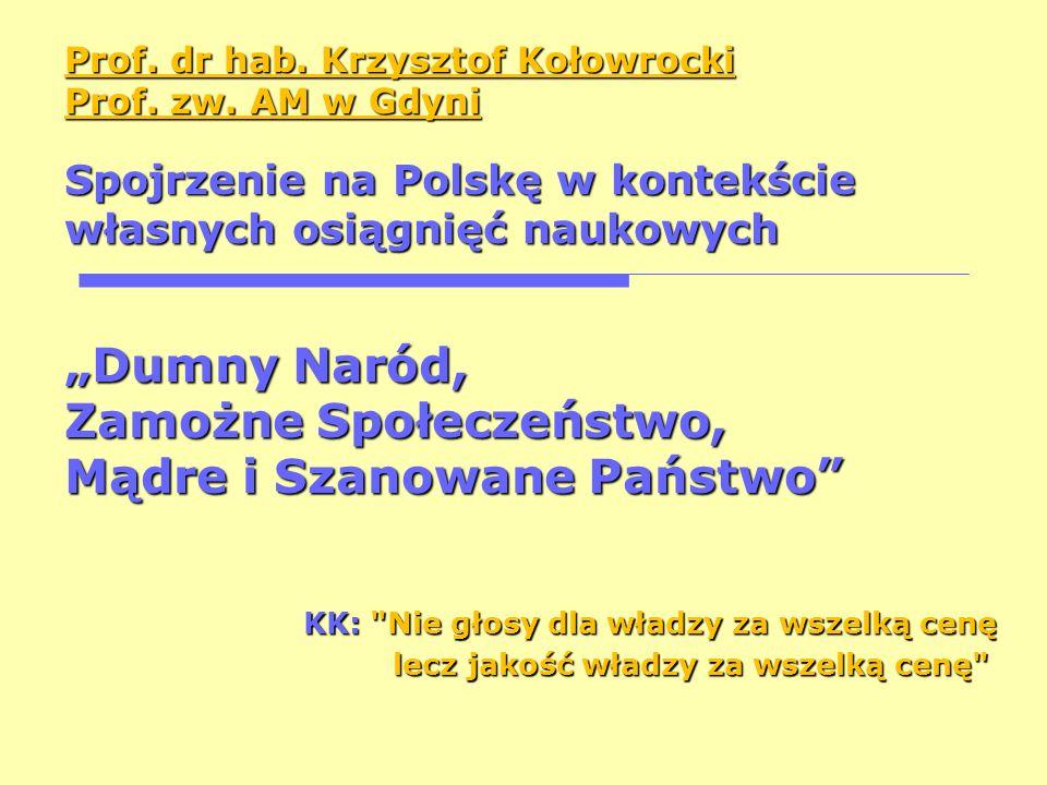 Prof. dr hab. Krzysztof Kołowrocki Prof. zw