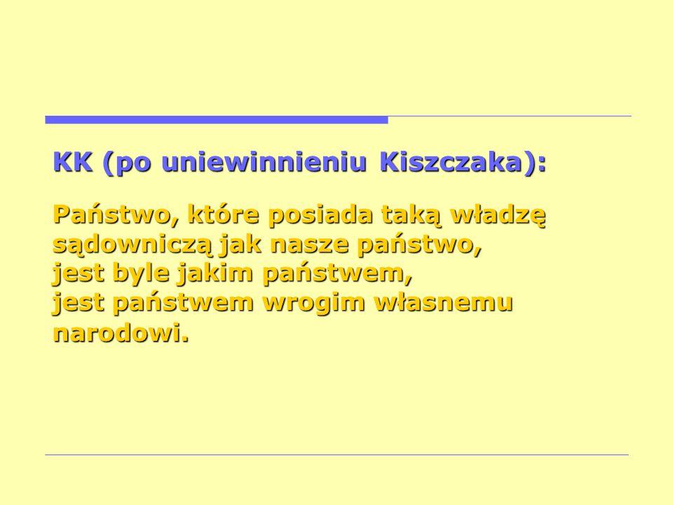 KK (po uniewinnieniu Kiszczaka):