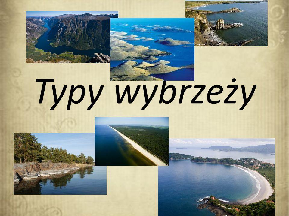 Typy wybrzeży