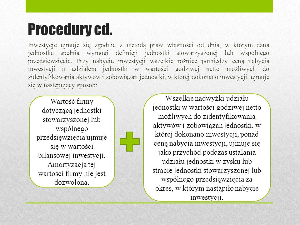 Procedury cd.