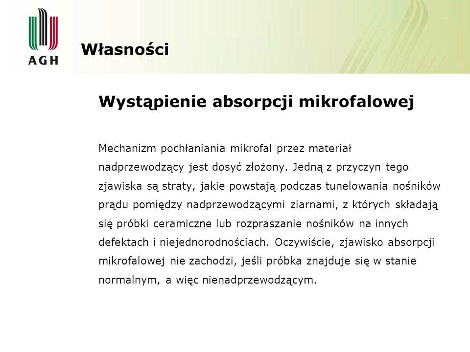 Wystąpienie absorpcji mikrofalowej