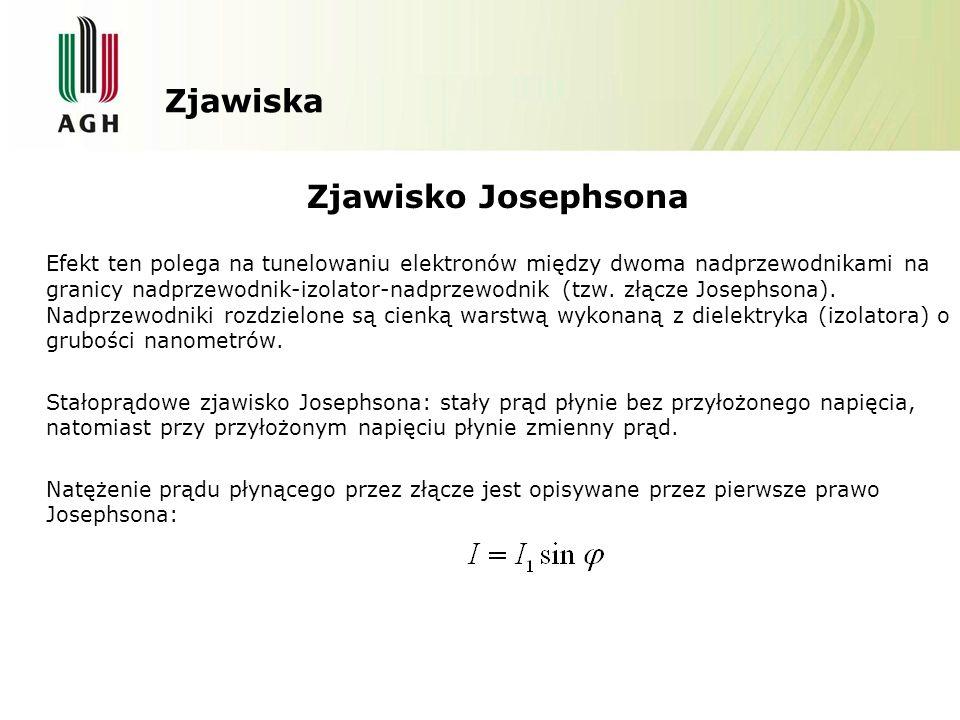 Zjawiska Zjawisko Josephsona