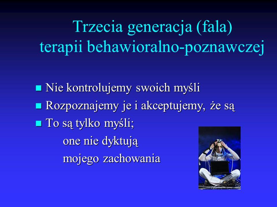 Trzecia generacja (fala) terapii behawioralno-poznawczej