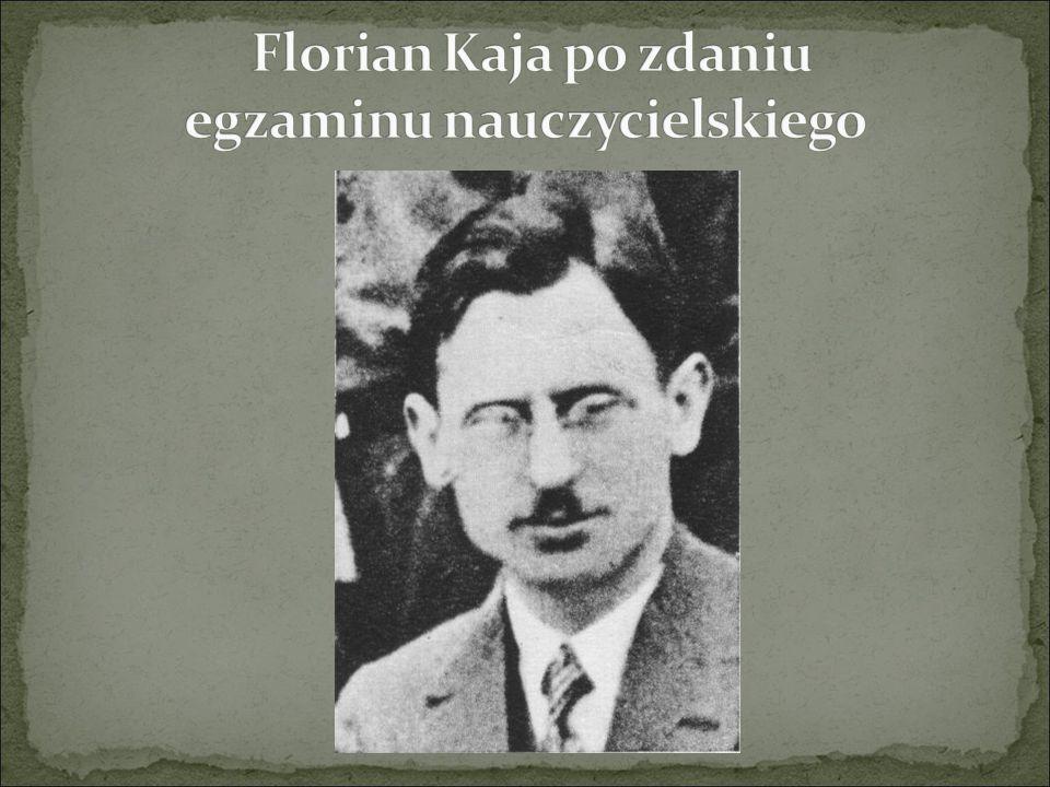 Florian Kaja po zdaniu egzaminu nauczycielskiego