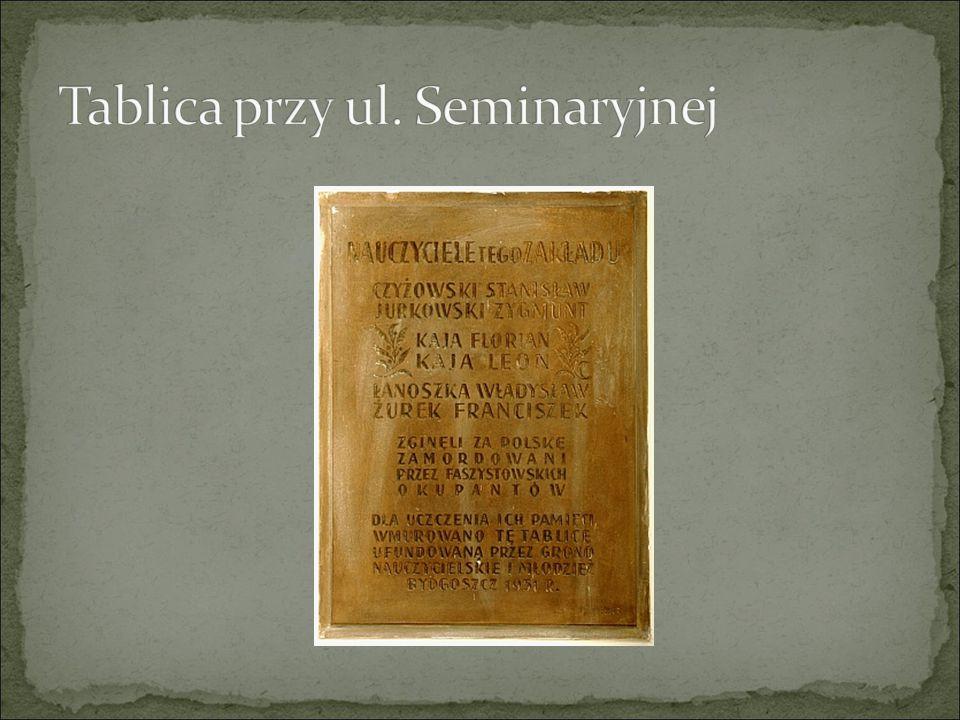 Tablica przy ul. Seminaryjnej