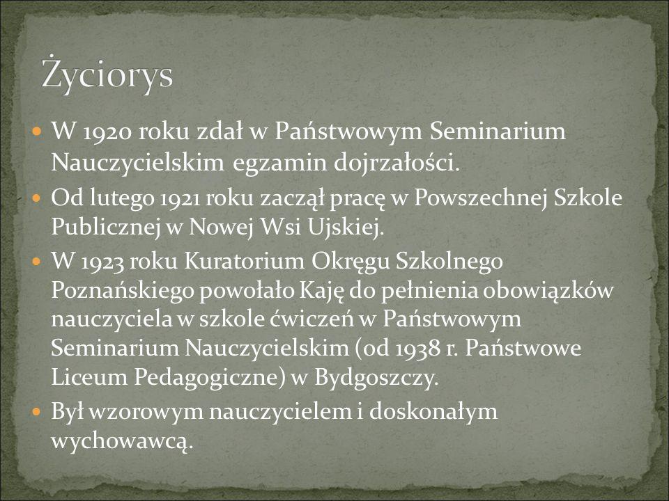 Życiorys W 1920 roku zdał w Państwowym Seminarium Nauczycielskim egzamin dojrzałości.