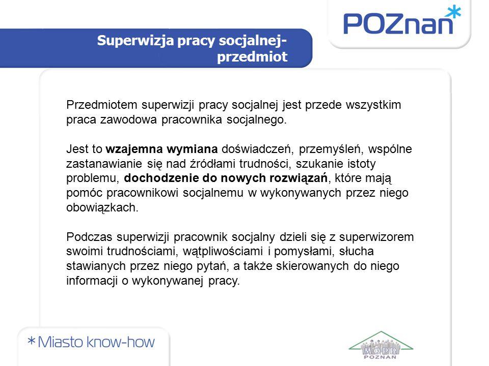 Superwizja pracy socjalnej-przedmiot