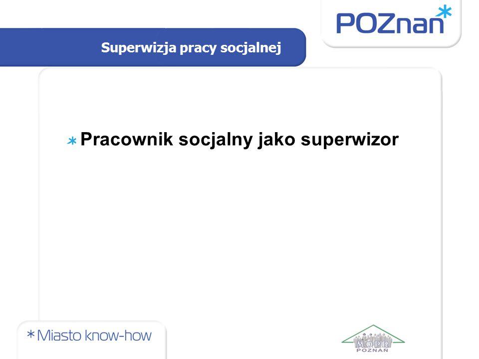 Superwizja pracy socjalnej