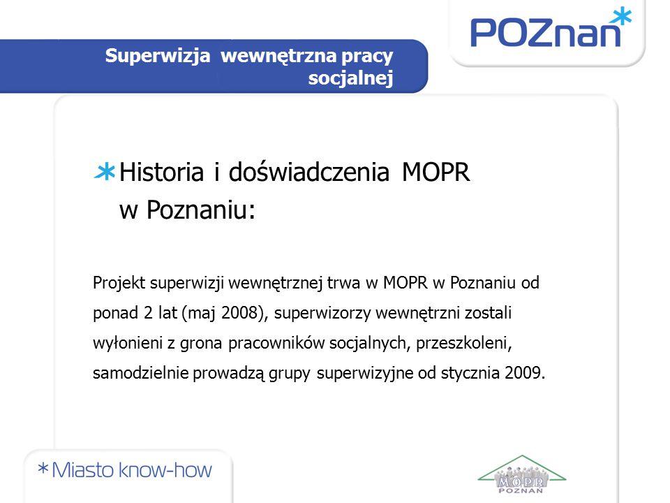 Historia i doświadczenia MOPR w Poznaniu: