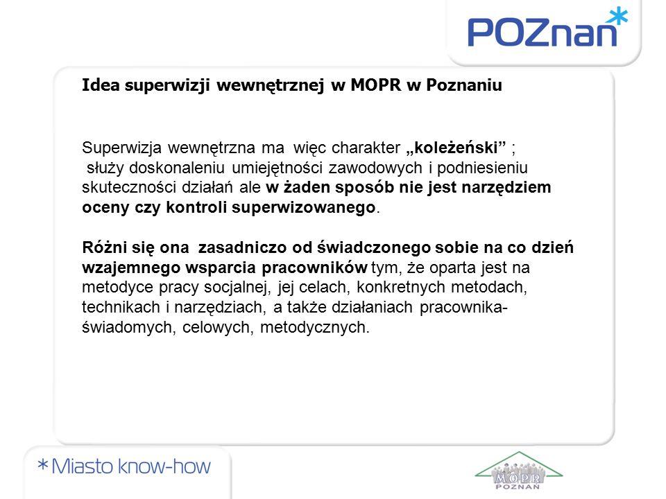 Idea superwizji wewnętrznej w MOPR w Poznaniu
