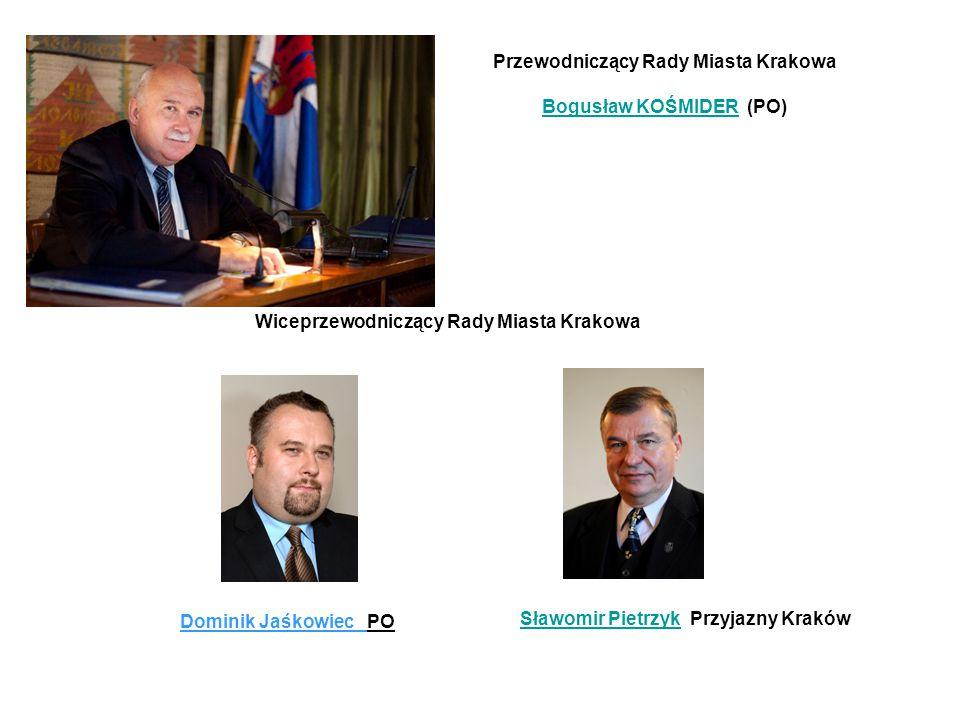 Przewodniczący Rady Miasta Krakowa Bogusław KOŚMIDER (PO)