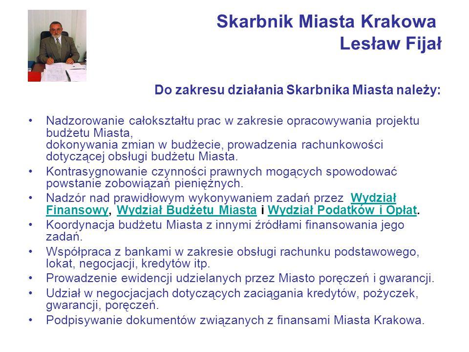 Skarbnik Miasta Krakowa Lesław Fijał