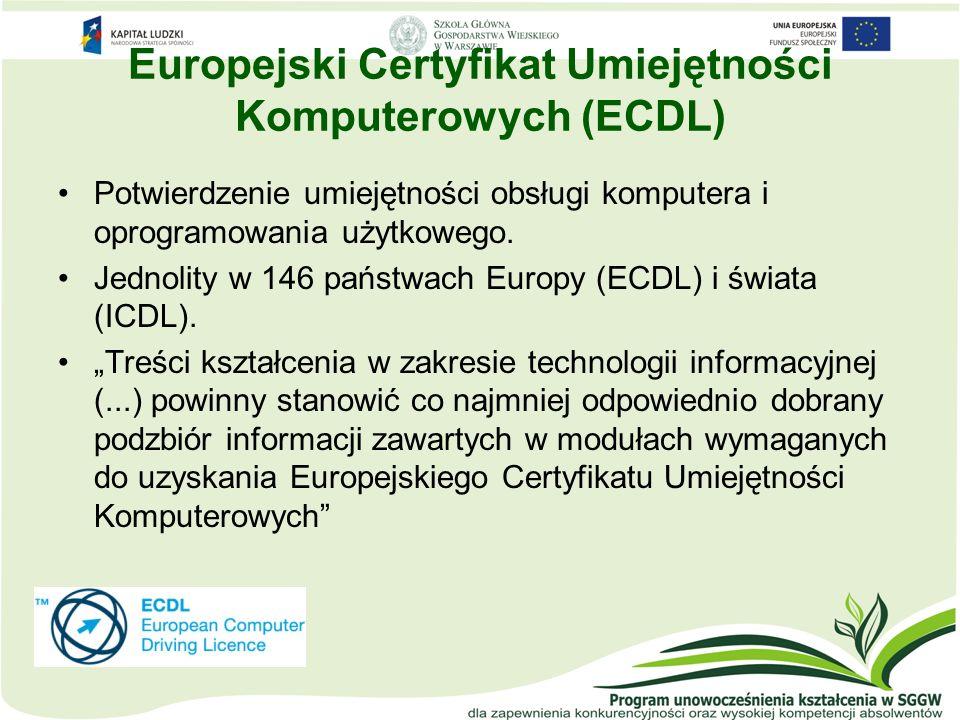 Europejski Certyfikat Umiejętności Komputerowych (ECDL)