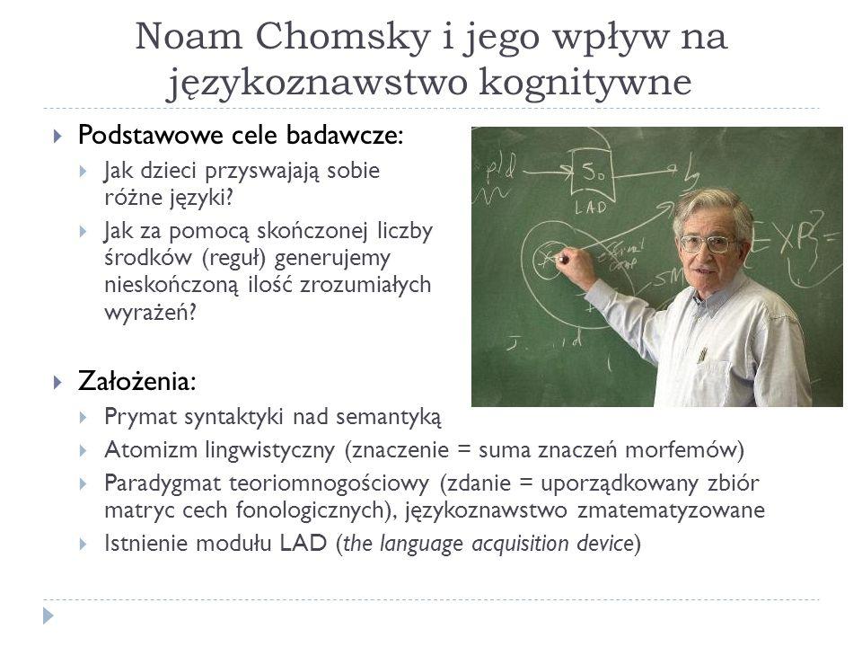 Noam Chomsky i jego wpływ na językoznawstwo kognitywne