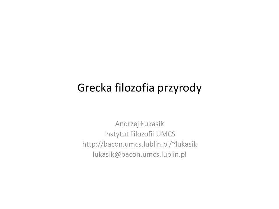 Grecka filozofia przyrody