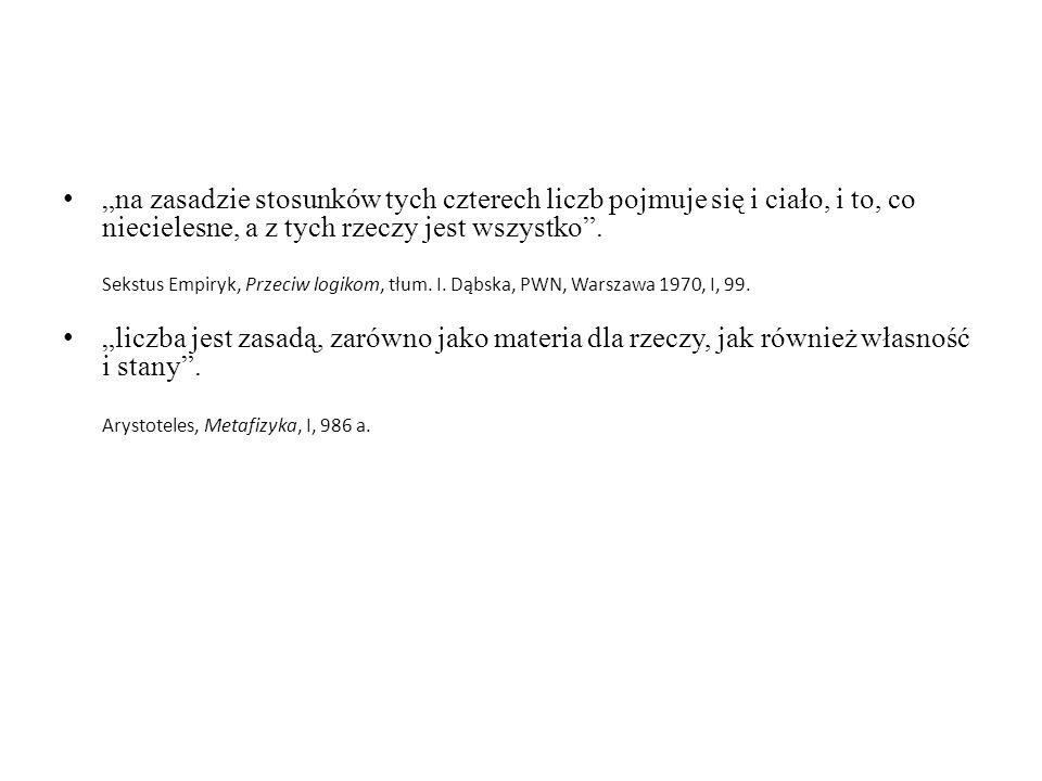 Arystoteles, Metafizyka, I, 986 a.