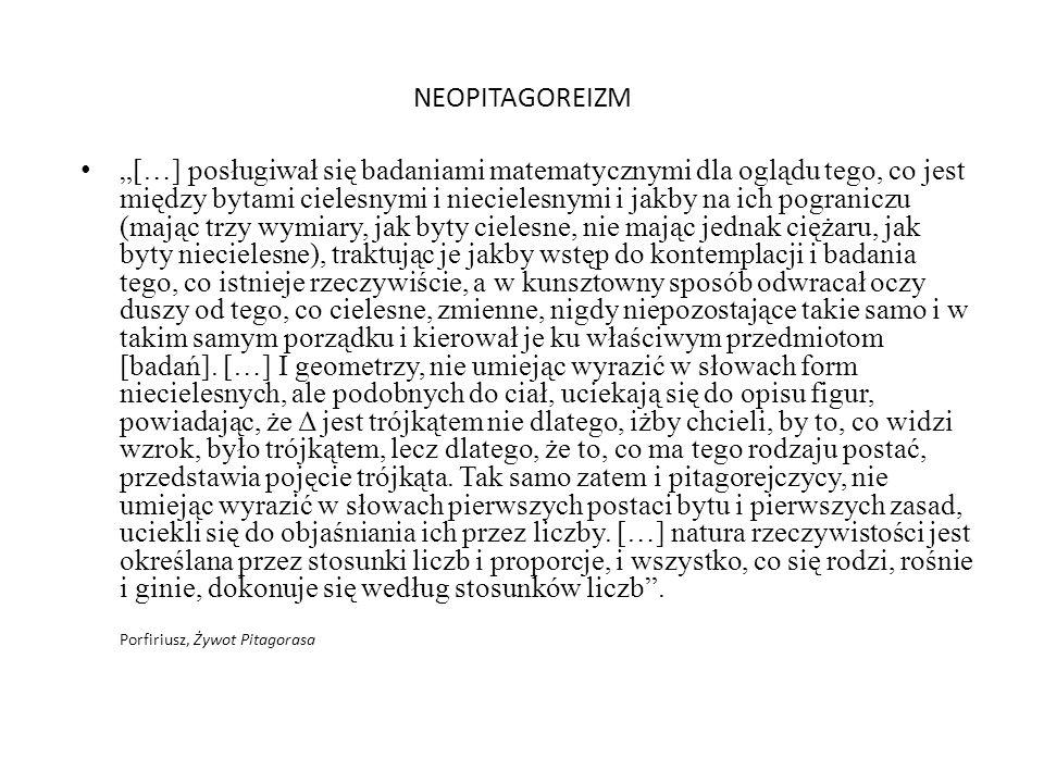 NEOPITAGOREIZM