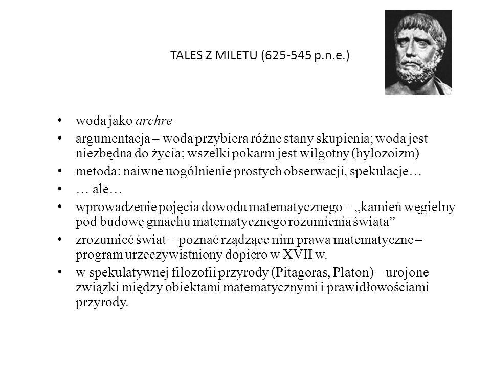 TALES Z MILETU (625-545 p.n.e.) woda jako archre.