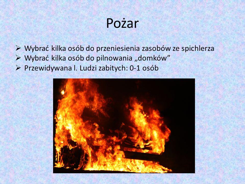 Pożar Wybrać kilka osób do przeniesienia zasobów ze spichlerza