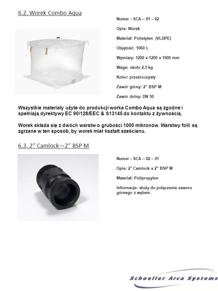 6.2. Worek Combo Aqua 6.3. 2 Camlock—2 BSP M