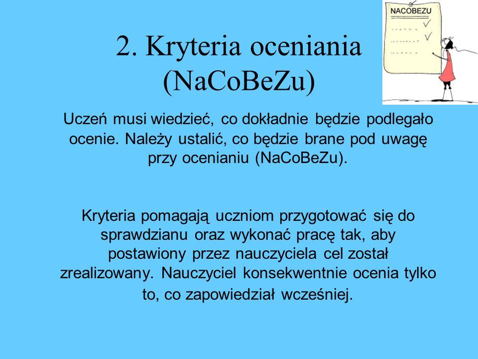 2. Kryteria oceniania (NaCoBeZu)