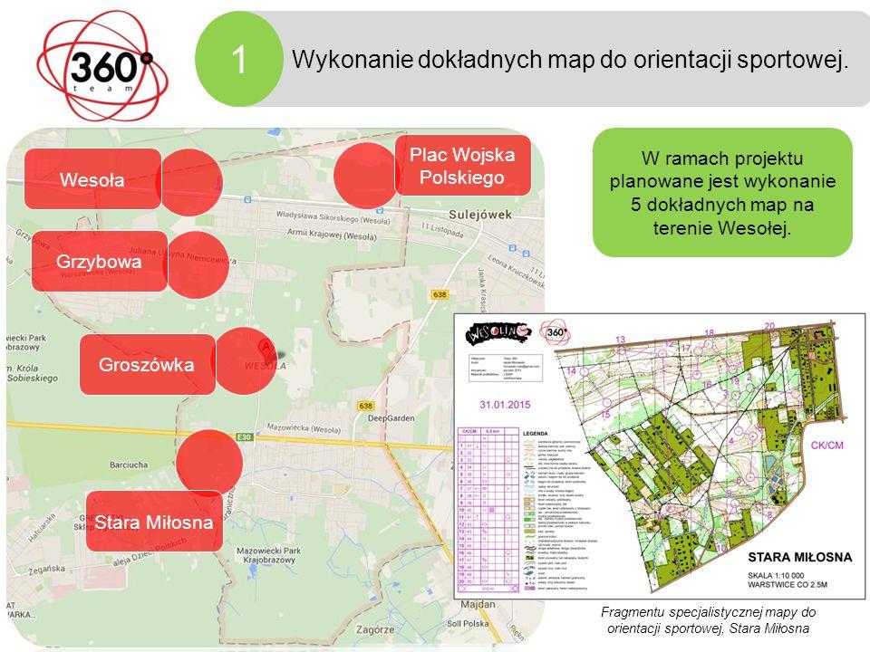 Fazy projektu 1 Wykonanie dokładnych map do orientacji sportowej.