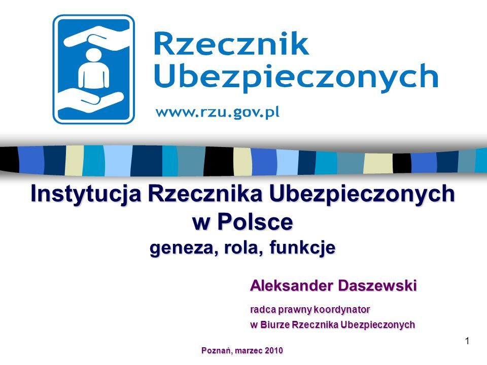 Instytucja Rzecznika Ubezpieczonych w Polsce geneza, rola, funkcje